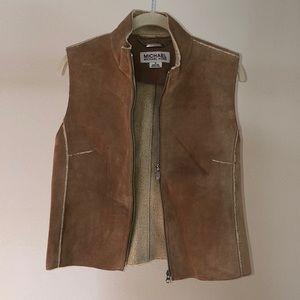 Michael Kors suede faux shearling lining vest